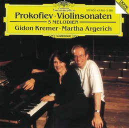 Sonate n° 1 pour violon et piano, en fa mineur, op. 80 / Serge Prokofiev | Prokofiev, Serge. Compositeur